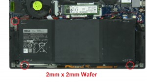 Unscrew battery (3 x M2 x 2mm wafer) (1 X 1.6mm x 4mm).