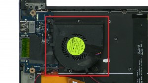 Unscrew and remove Cooling Fan (1 x