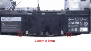 Unscrew and remove Battery (2 x