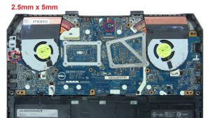Remove Motherboard screws (2 x
