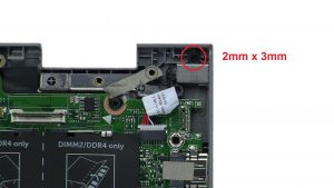 Unscrew and remove DC Jack (1 x