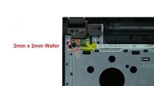 Unscrew and remove Power Button Circuit Board (1 x