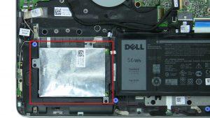 Remove hard drive caddy screws (3 x M2 x 3mm).