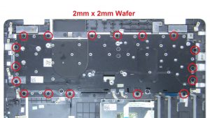 Unscrew and remove bracket and Keyboard (17 x