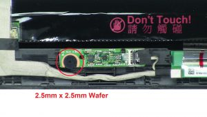 Remove circuit board screw (1 x M2.5 x 2.5mm wafer).