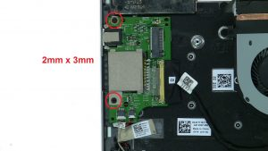 Remove circuit board screws (2 x M2 x 3mm).