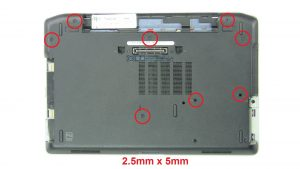 Unscrew and remove Base Cover (8 x