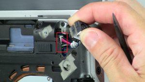 Unscrew and remove bracket (1 x M2.5 x 5mm).