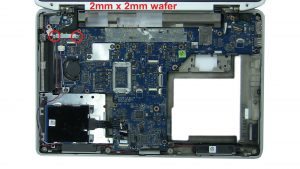 Unscrew and remove display cable bracket (2 x M2 x 2mm wafer).
