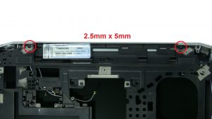 Unscrew and remove Display Assembly (5 x