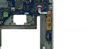 Disconnect and remove volume button circuit board.