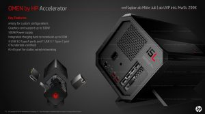 A New External GPU for HP's Omen Desktop Gaming PC Supports