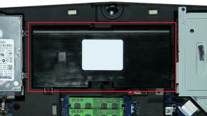 Remove battery screws (2 x M2.5 x 5mm).