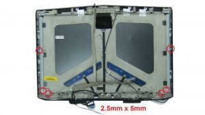 Unscrew and remove Display Rails (6 x