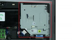 Remove screws from DVD Drive (4 x M2 x 5mm).