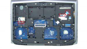 Remove palmrest screws (6 x M2.5 x 5mm) (3 x