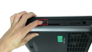 Use finger to press in and remove SD Card.