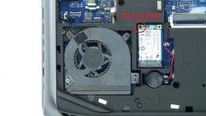 Unscrew and remove mSATA SSD (1 x M2 x 3mm)
