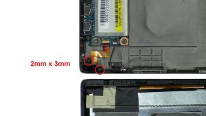 Unscrew and remove Audio Port (2 x