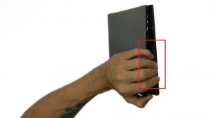 Use fingers to separate and remove Back Cover.