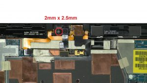 Unscrew and remove camera (1 x M2 x 2.5mm).