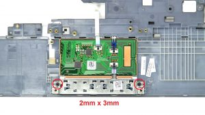 Unscrew and remove Mouse Buttons (2 x