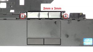 Unscrew mouse buttons (2 x M2 x 3mm).
