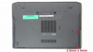 Unscrew and remove Hard Drive (2 x