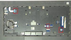 Disconnect palmrest cables.