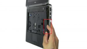 Separate Palmrest and disconnect bluetooth cable.