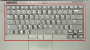 Unscrew and disconnect keyboard (4 x M2.5 x 5mm).