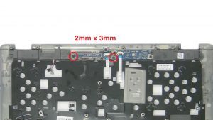 Unscrew and remove Power Switch Board (2 x