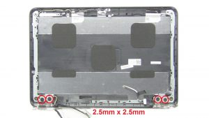 Unscrew and remove Hinge Rails (4 x M2.5 x 2.5mm wafer).