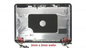 Unscrew and remove hinges (4 x M2 x 2mm wafer).