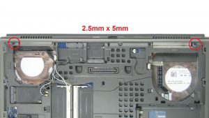 Remove display assembly screws (8 x M2.5 x 5mm)(2 x