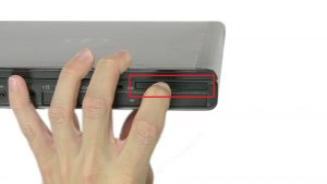 Press in to release and remove Express Card.