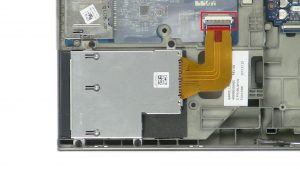 Unscrew and disconnect Express Card Cage (4 x M2 x 3mm).