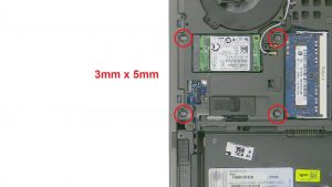 Remove Hard Drive screws (4 x M3 x 5mm).