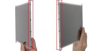 Unscrew and remove rails (8 x M2 x 3mm).