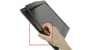 Use fingers to separate and turn over bezel.