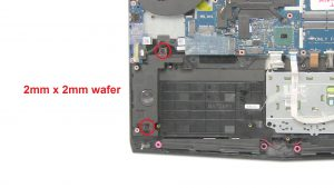 Unscrew and remove Subwoofer (2 x