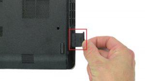 Press in and remove SD Card.