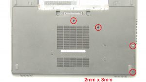 Unscrew and remove Base Cover (4 x