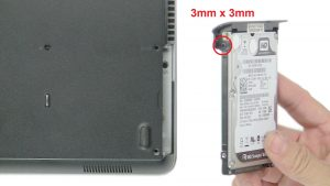 Unscrew and remove Hard Drive (2 x