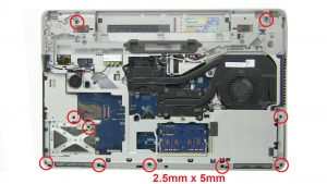 Unscrew and disconnect Palmrest (10 x