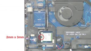 Unscrew bracket and disconnect antenna cables (1 x M2 x 3mm).