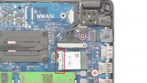Remove WLAN Card.