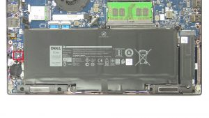Dell Latitude 7280 (P28S001) CMOS Battery Removal & Installation