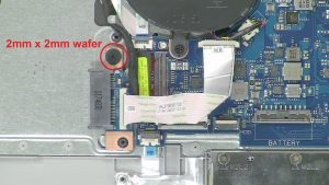 Unscrew and disconnect DVD Drive Connector Board (1 x