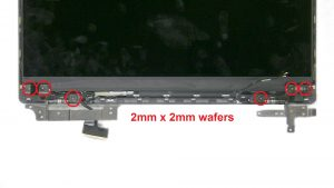 Unscrew and remove Display Hinges (6 x